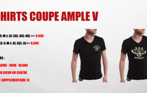 T-Shirt col V coupe ample